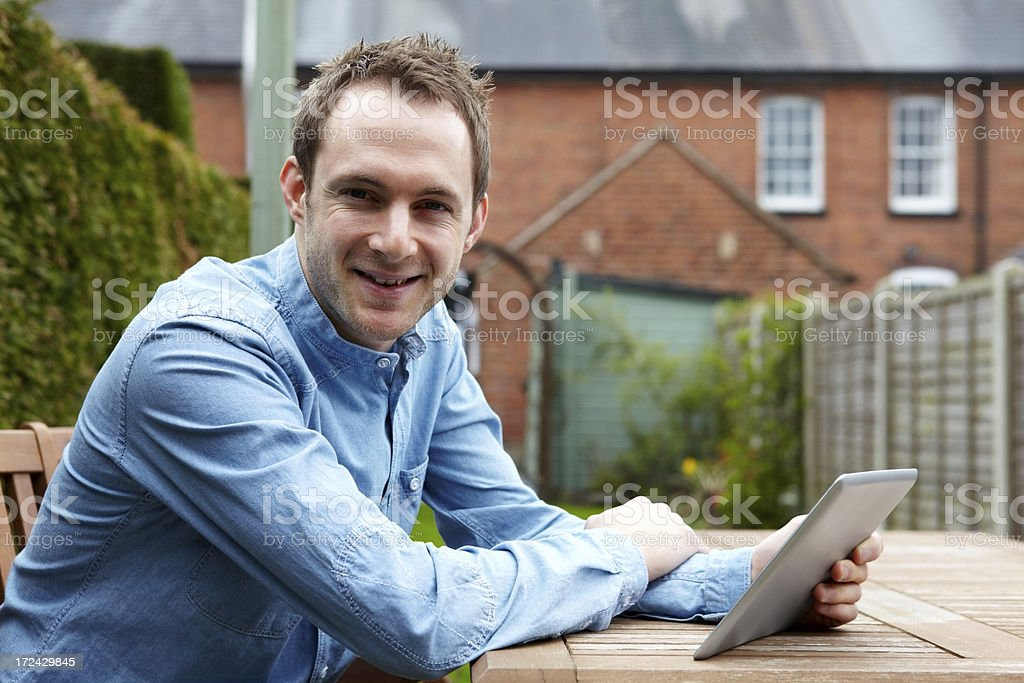 Keeping in touch with new technology royalty-free stock photo