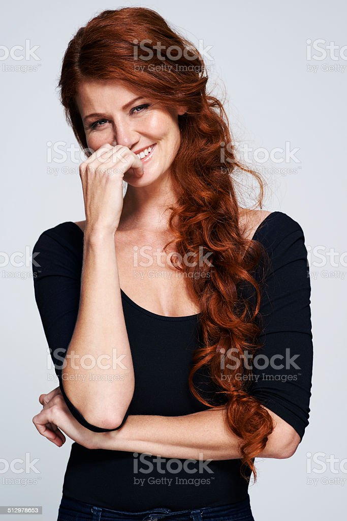 Keeping it curly stock photo