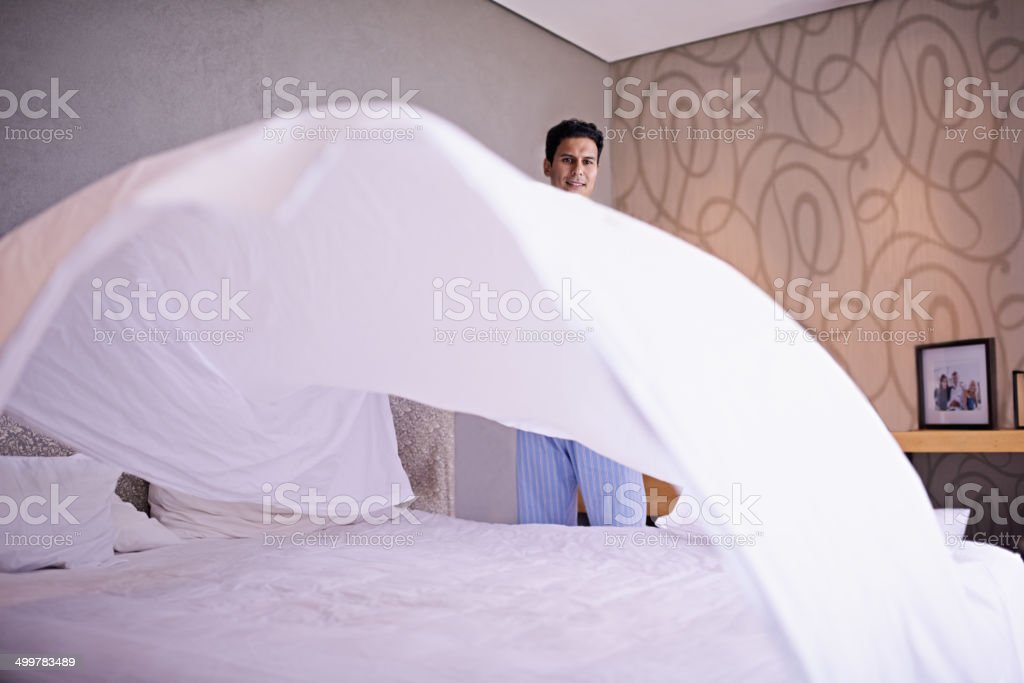 Keeping it neat stock photo