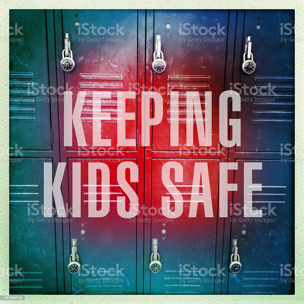 Keeping Kids Safe stock photo