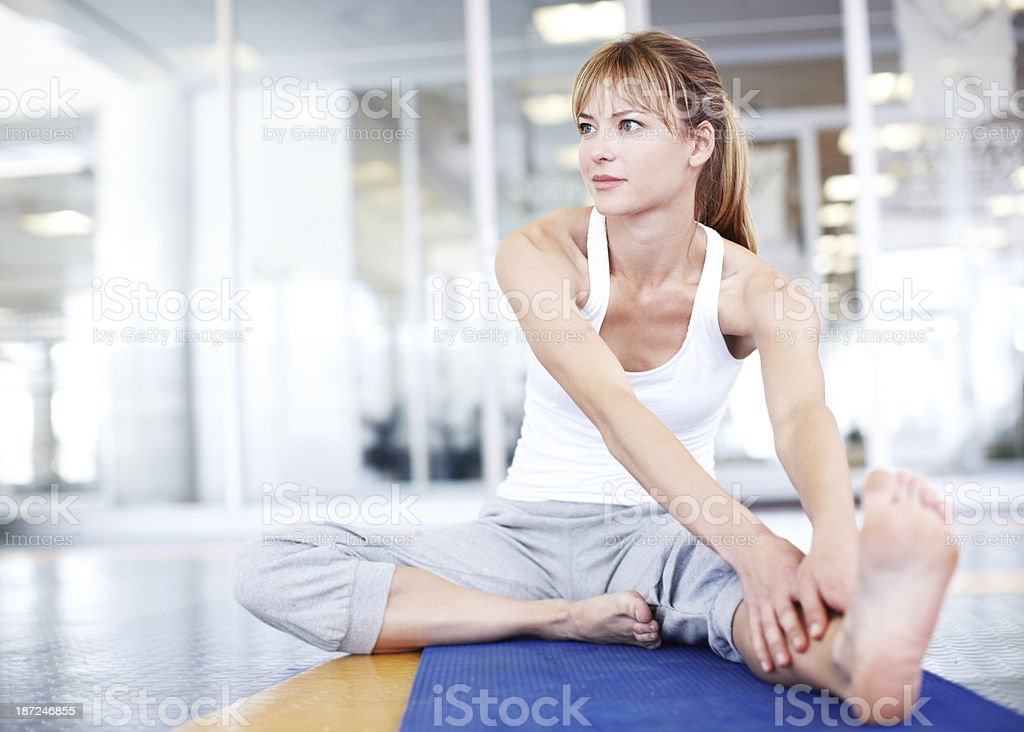 Keeping limber is crucial royalty-free stock photo