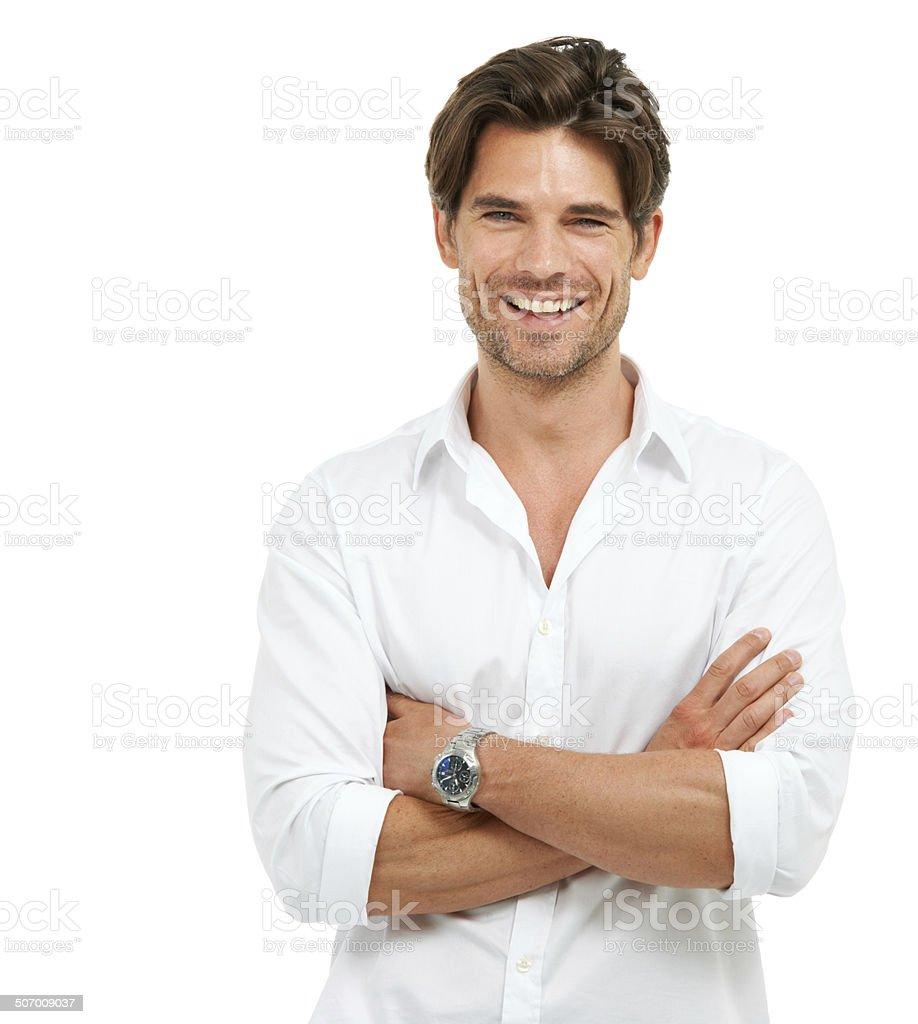 Keeping men's health in focus stock photo