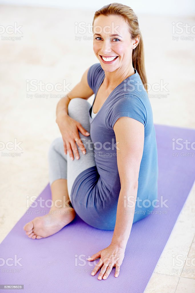 Keeping my body and mind healthy stock photo