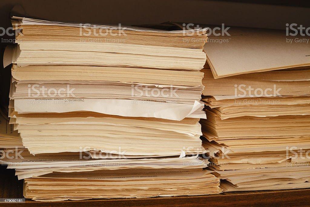Keeping Records royalty-free stock photo