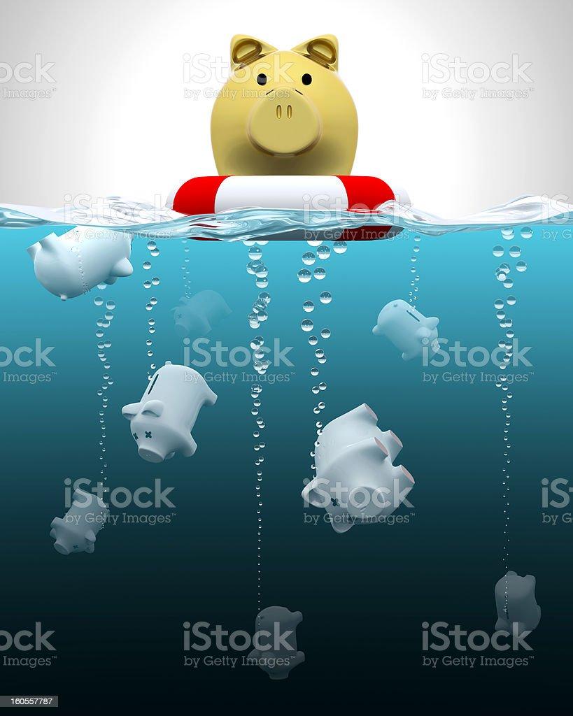 Keeping savings insured stock photo
