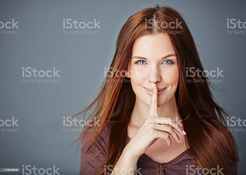 Keeping secret stock photo