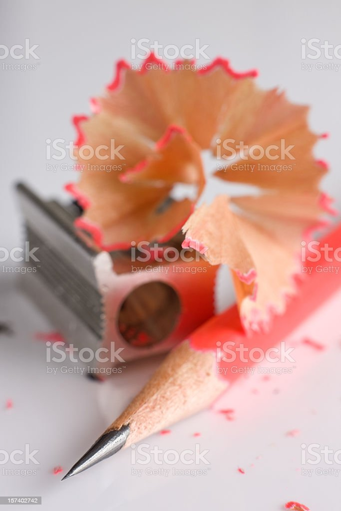 Keeping sharp, straight to the point. stock photo
