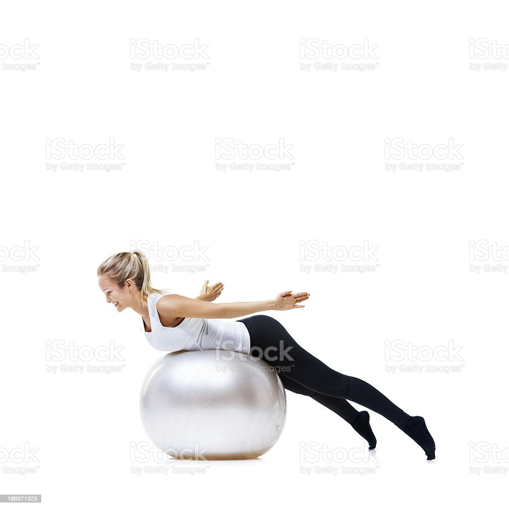 Keeping that core strong! royalty-free stock photo