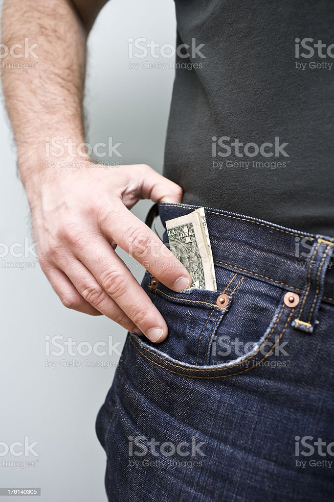Keeping the Cash stock photo