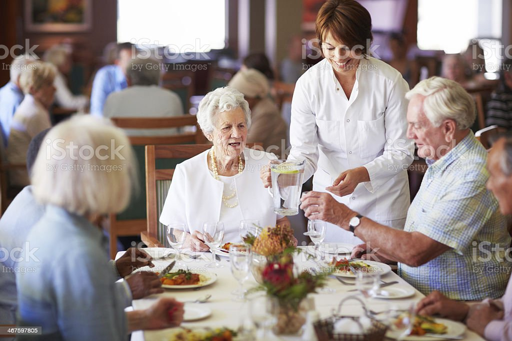 Keeping the elderly happy royalty-free stock photo