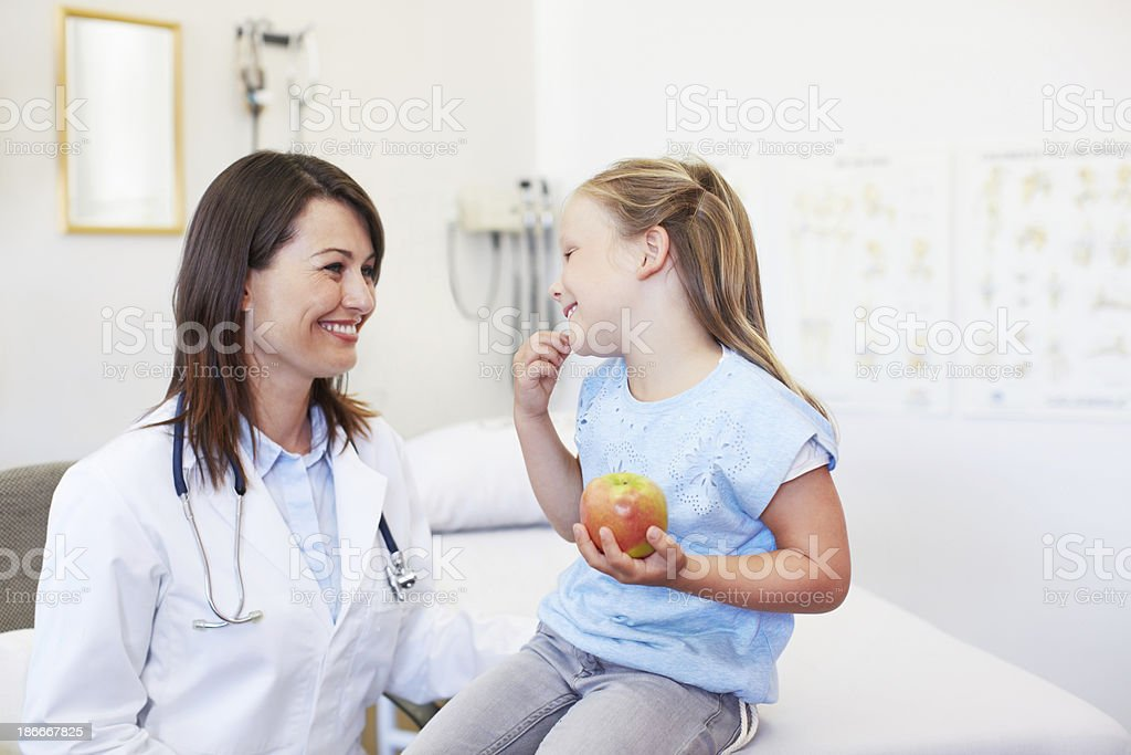 Keeping the kids healthy royalty-free stock photo