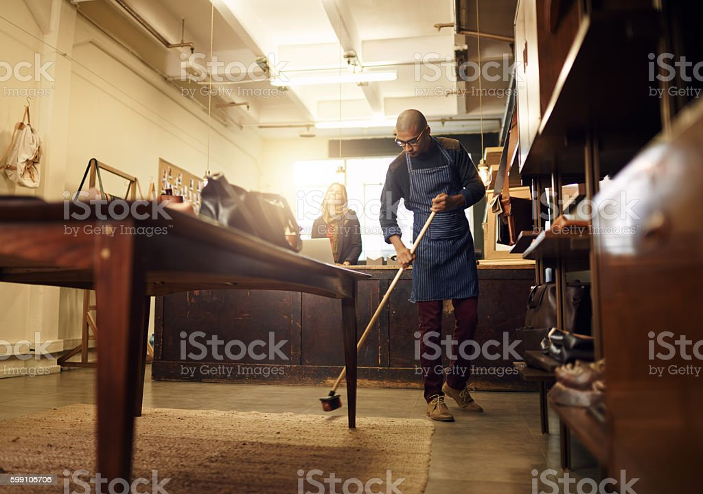 Keeping the place presentable stock photo
