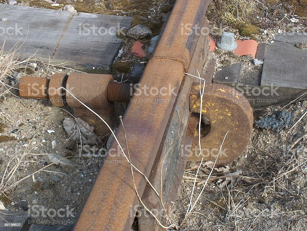 Keeping the tracks together royalty-free stock photo