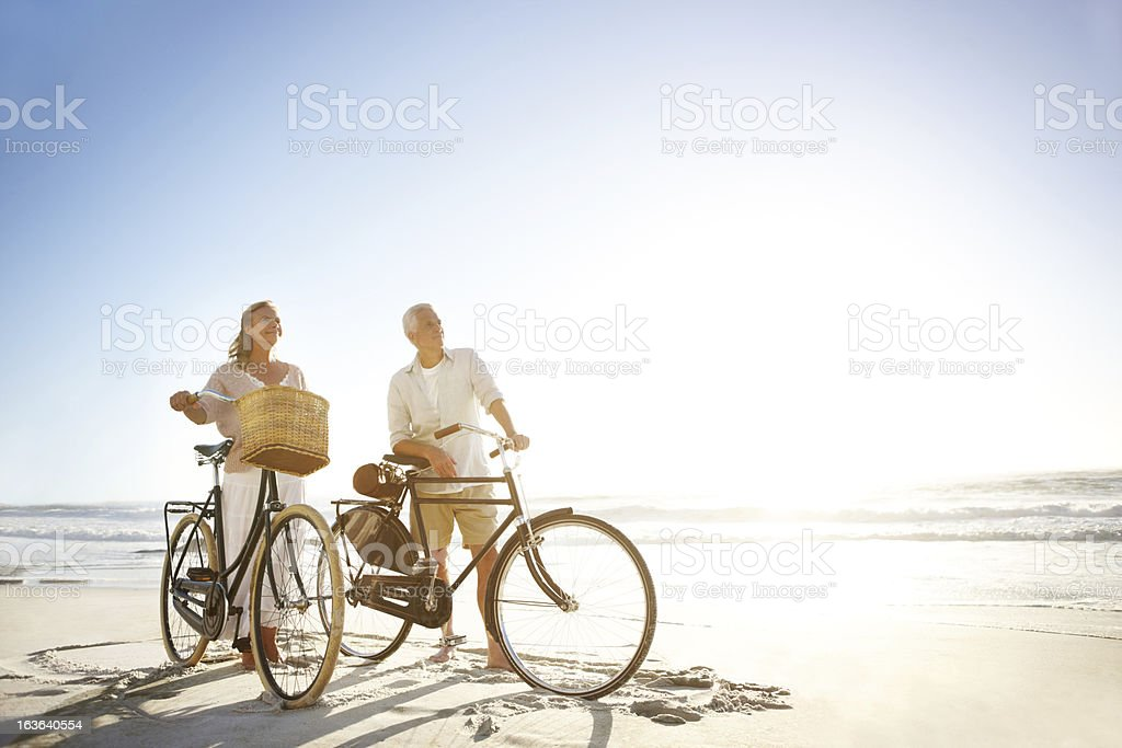 Keeping themselves in great shape royalty-free stock photo