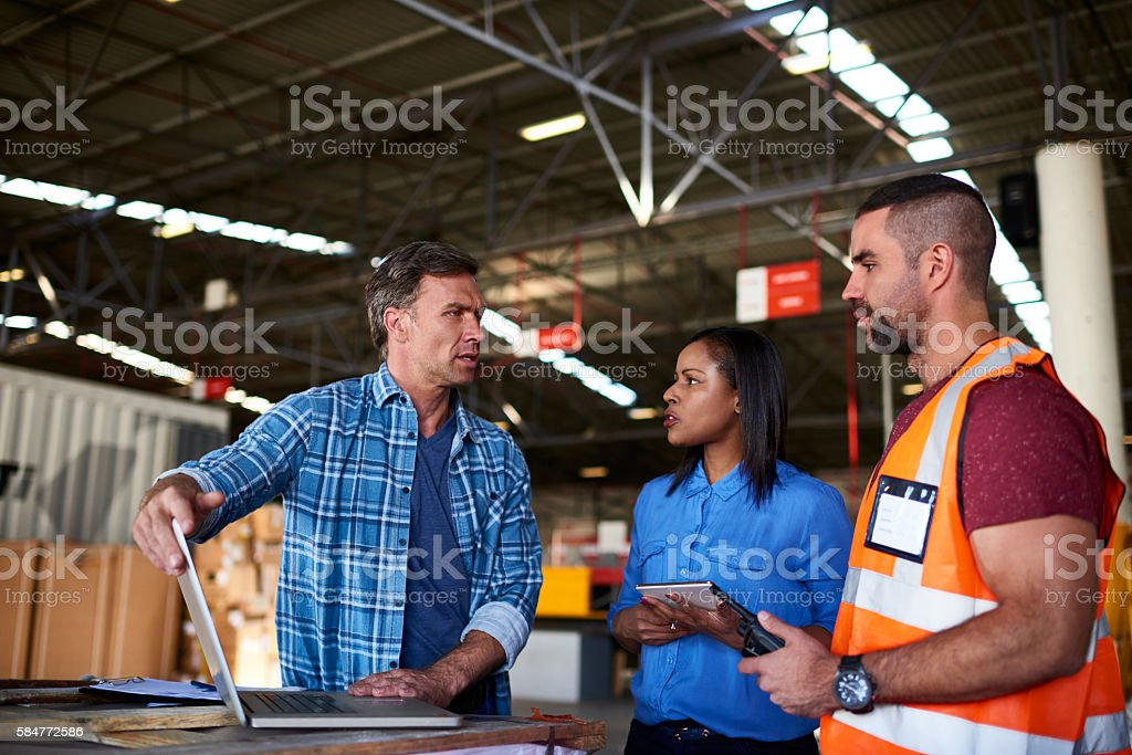 Keeping track of all the comings and goings stock photo