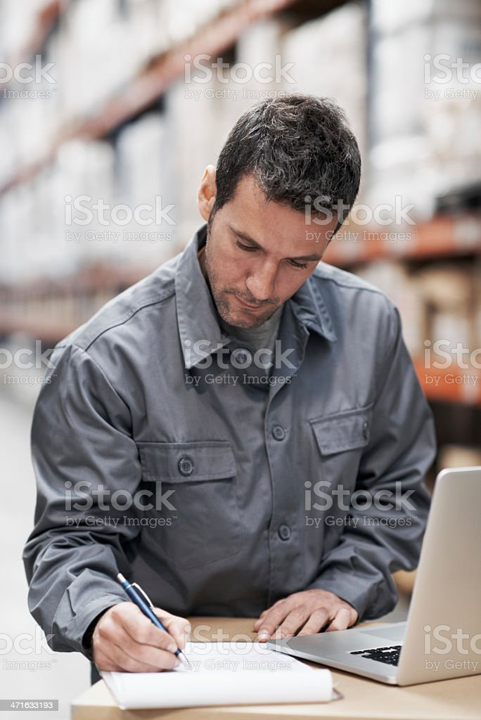 Keeping track of all the stock royalty-free stock photo