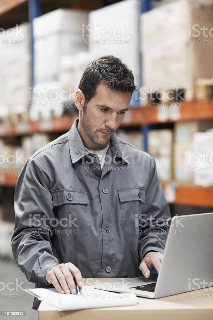 Keeping track of the inventory royalty-free stock photo