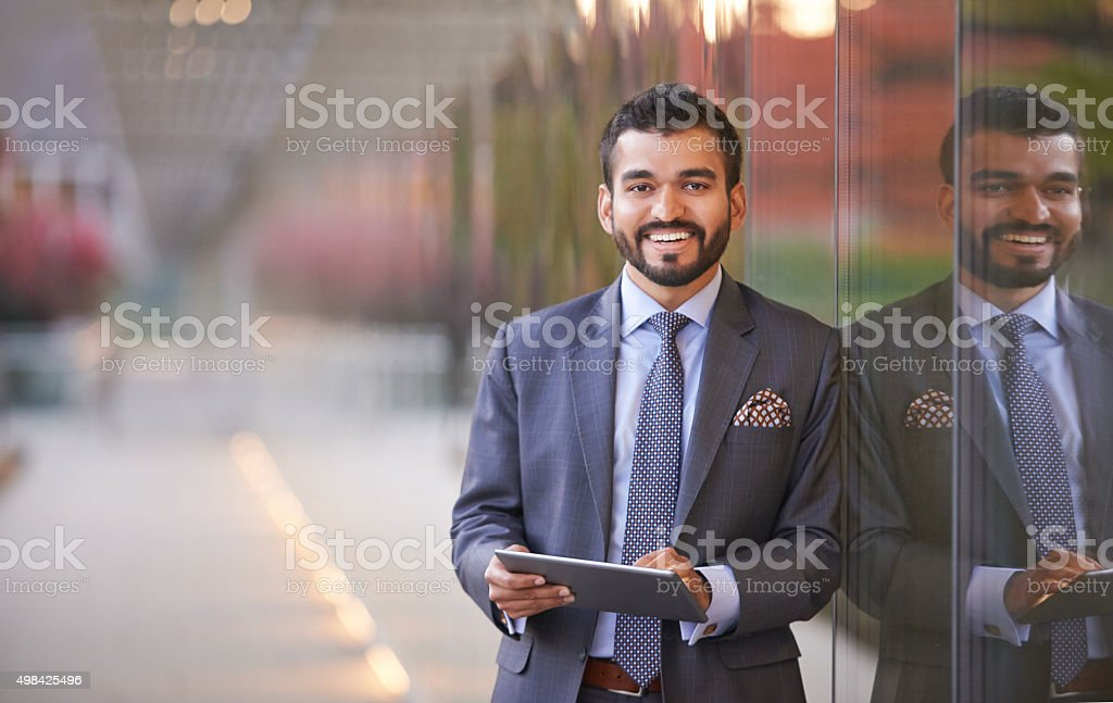Keeping track of the latest business developments stock photo