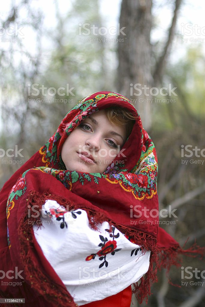 Keeping warm royalty-free stock photo