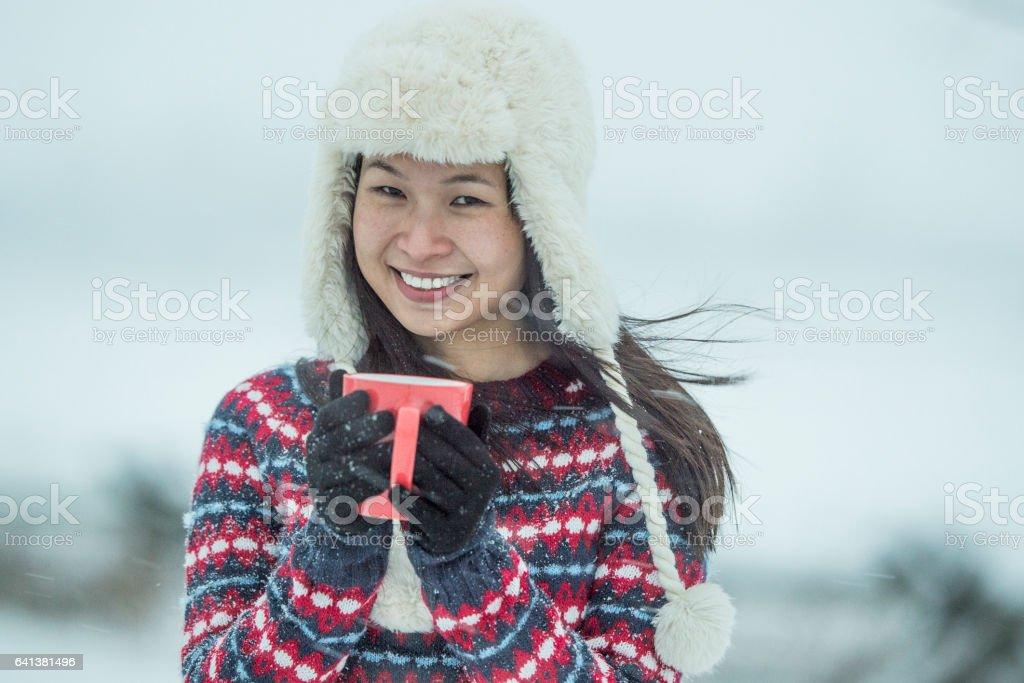 Keeping Warm stock photo