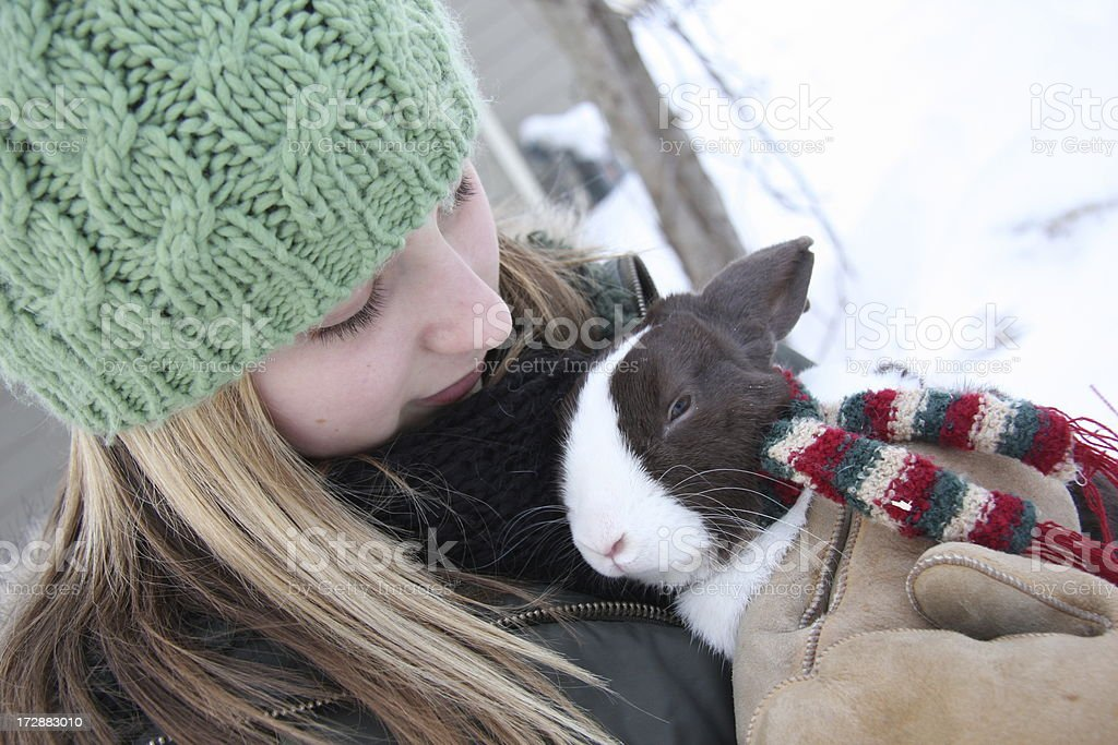 Keeping Warm Together royalty-free stock photo