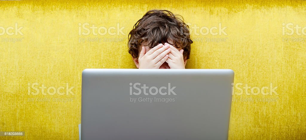 Keeping Your Child Safe on the Internet stock photo