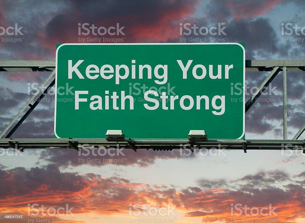 Keeping Your Faith Strong stock photo