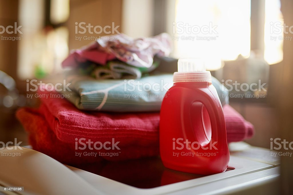 Keeping your laundry clean stock photo