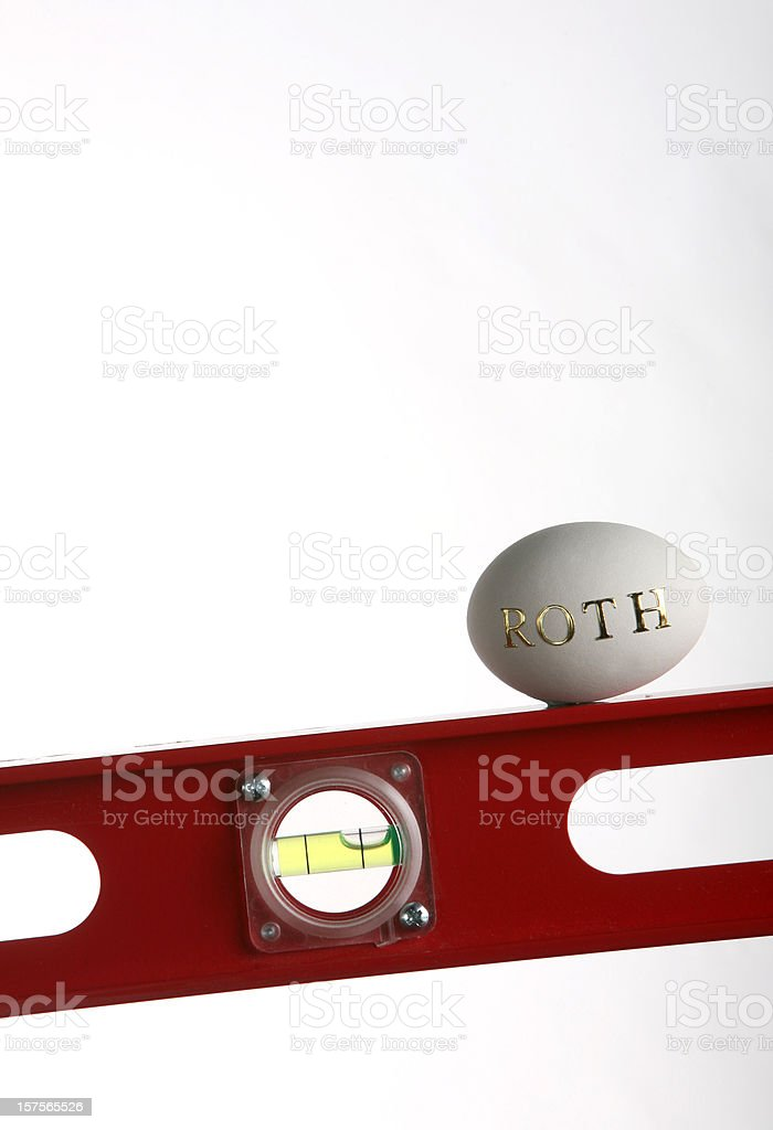 Keeping your savings level royalty-free stock photo