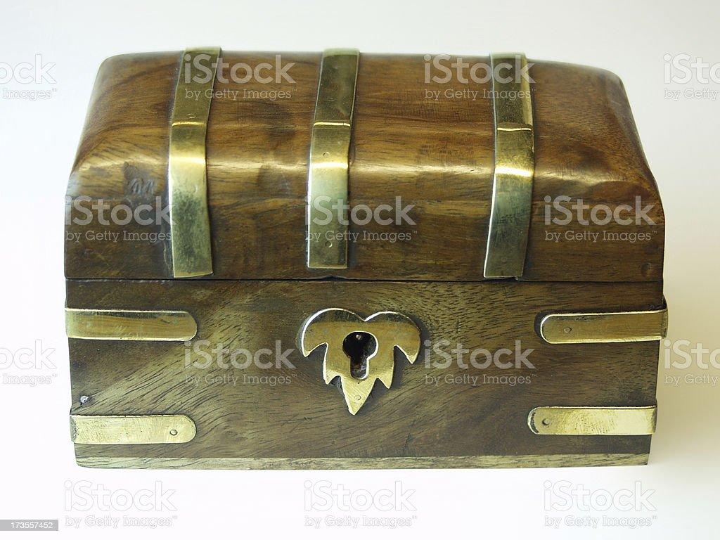 Keepsake Box with Clipping Path royalty-free stock photo