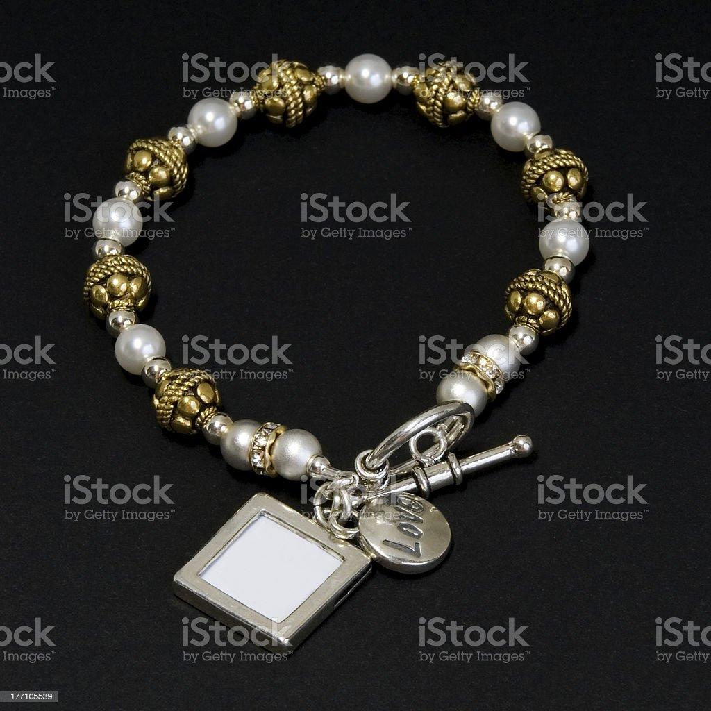 Keepsake Locket Bracelet royalty-free stock photo