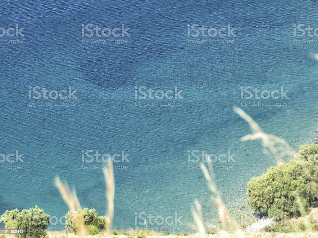 Kefalonia beach stock photo
