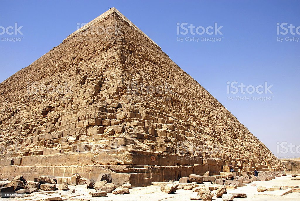 Kefren Pyramid on Giza, Cairo royalty-free stock photo