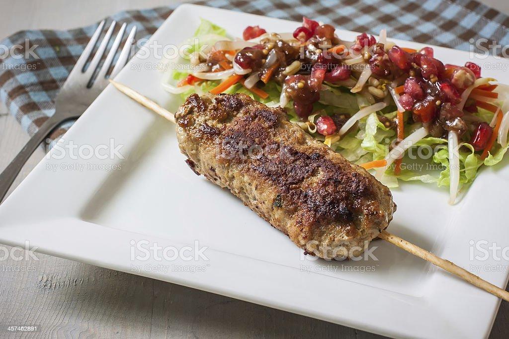 Kefta kebab stock photo