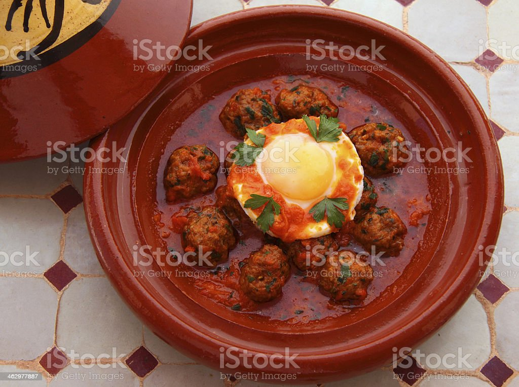 Kefta, Tajine - Popular North African dish. stock photo