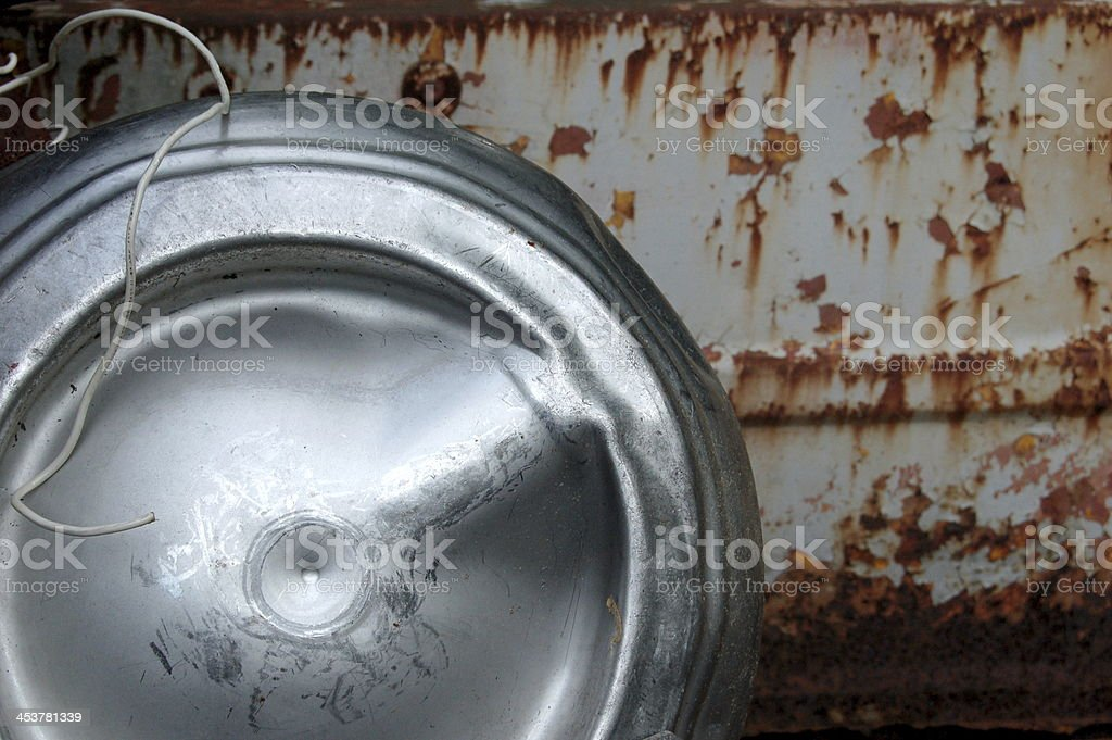 Keg Used as a Gas Tank royalty-free stock photo