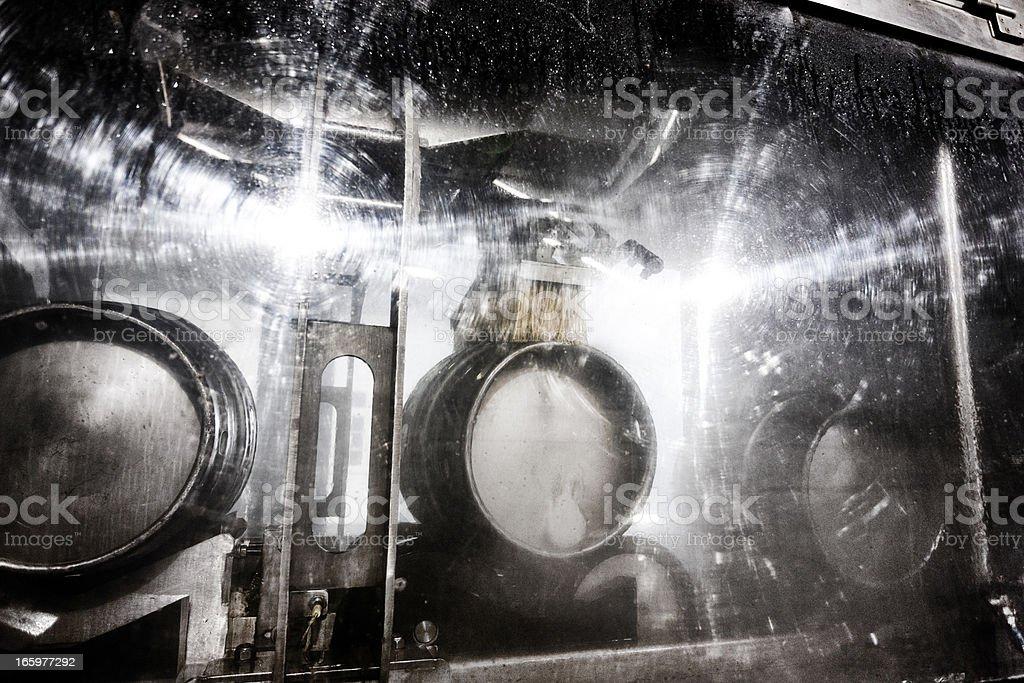 Keg washer stock photo