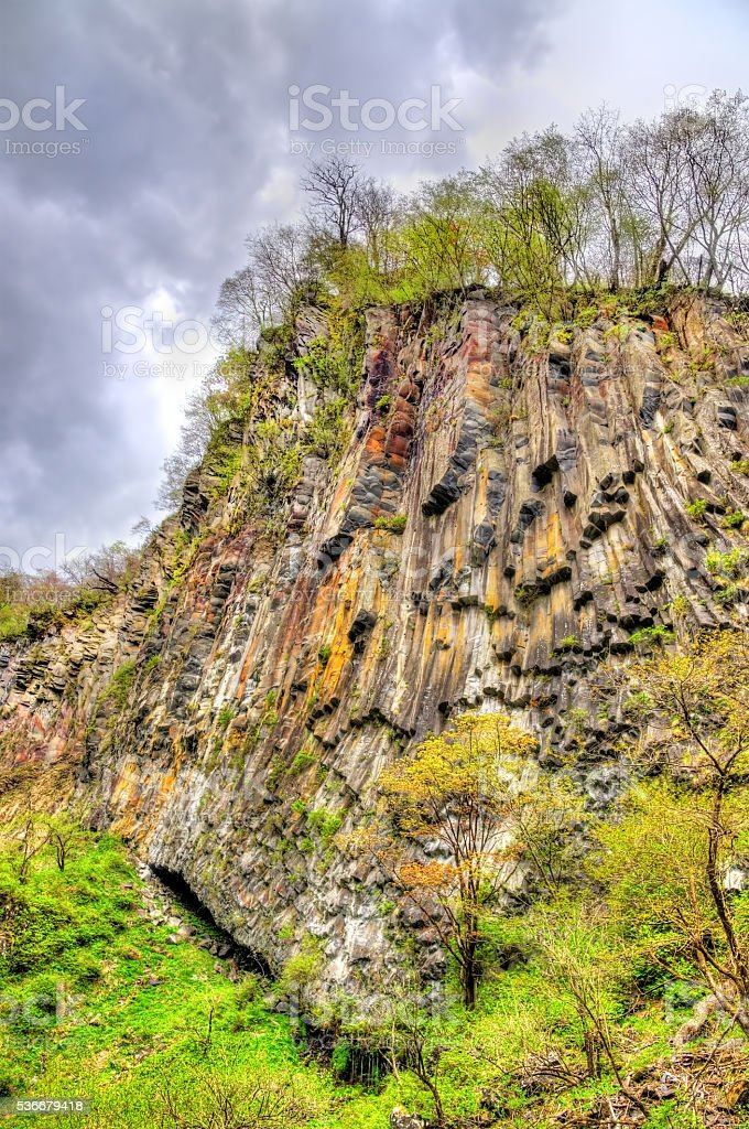 Kegon Falls, one of highest waterfalls in Japan stock photo