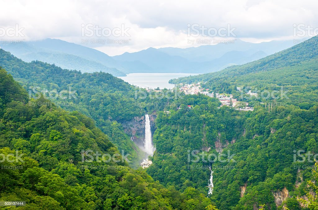Kegon falls,tochigi,tourism of japan stock photo