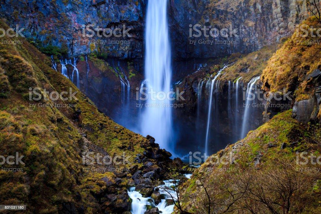 Kegon waterfall in autumn, Nikko, Japan stock photo