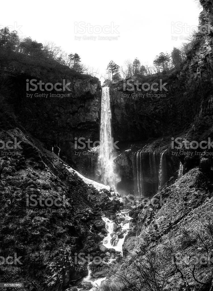 Kegon waterfall stock photo