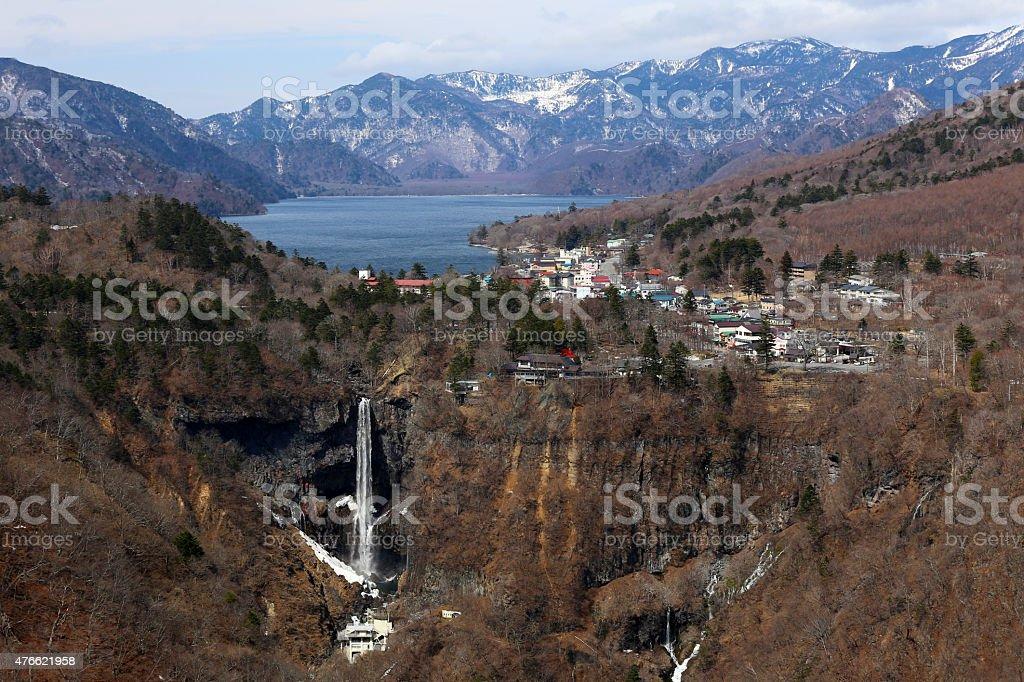 Kegon Waterfalls near Nikko, Japan. stock photo