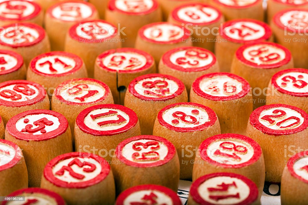 Kegs for game in a lotto stock photo
