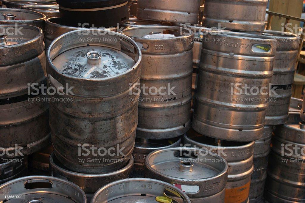 Kegs stock photo