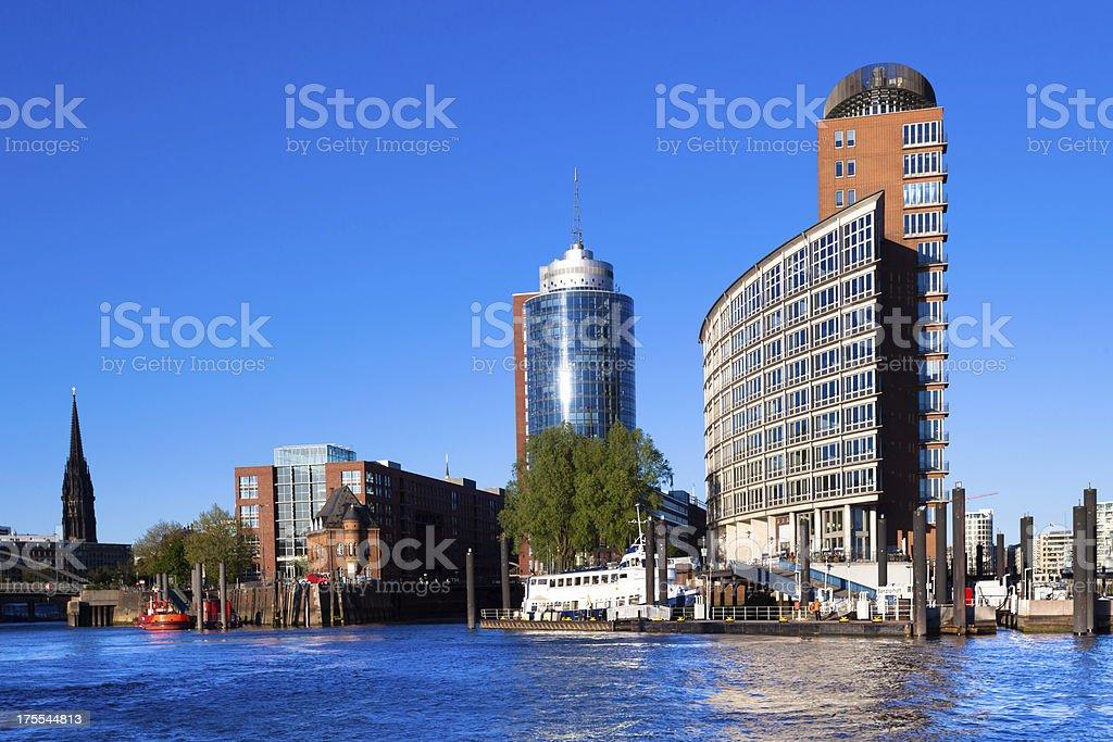 Kehrwiederspitze in Hamburg stock photo