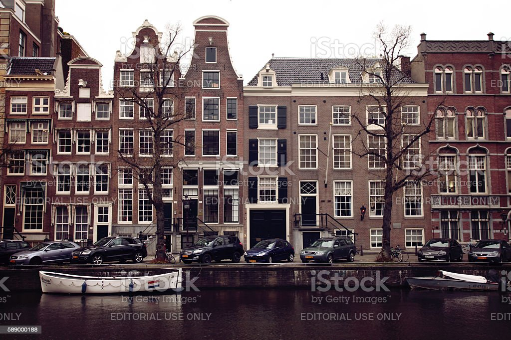 Keizersgracht canal houses in Amsterdam, Netherlands stock photo