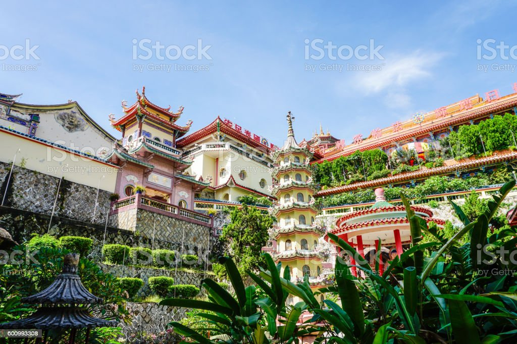 Kek Lok Si temple in Georgetown on Penang island, Malaysia stock photo