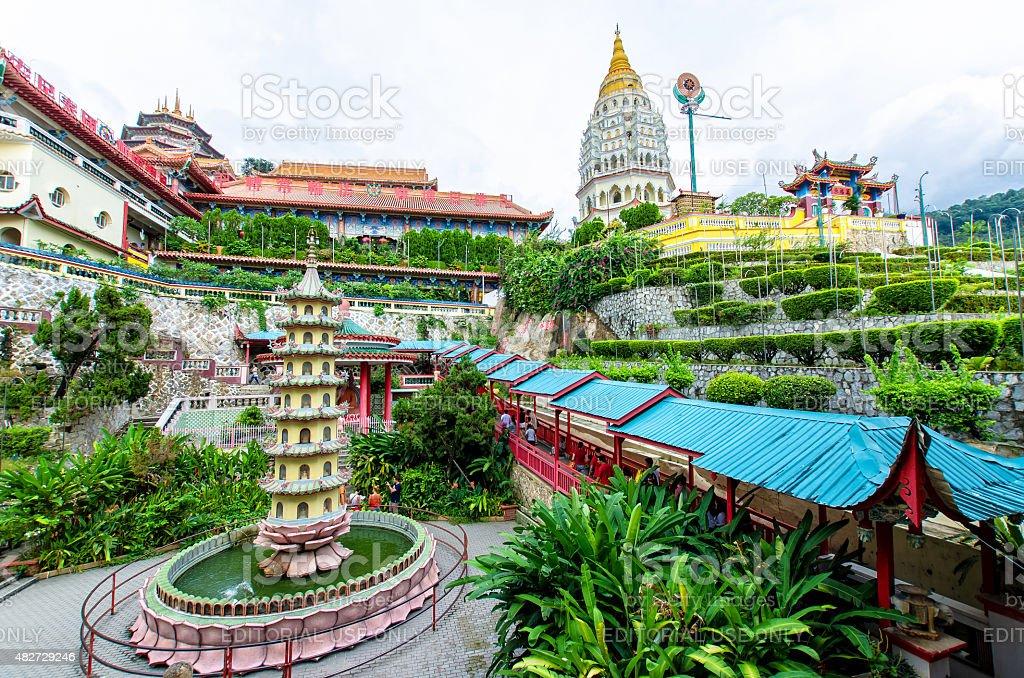 Kek Lok Si temple located at Air Itam Penang. stock photo