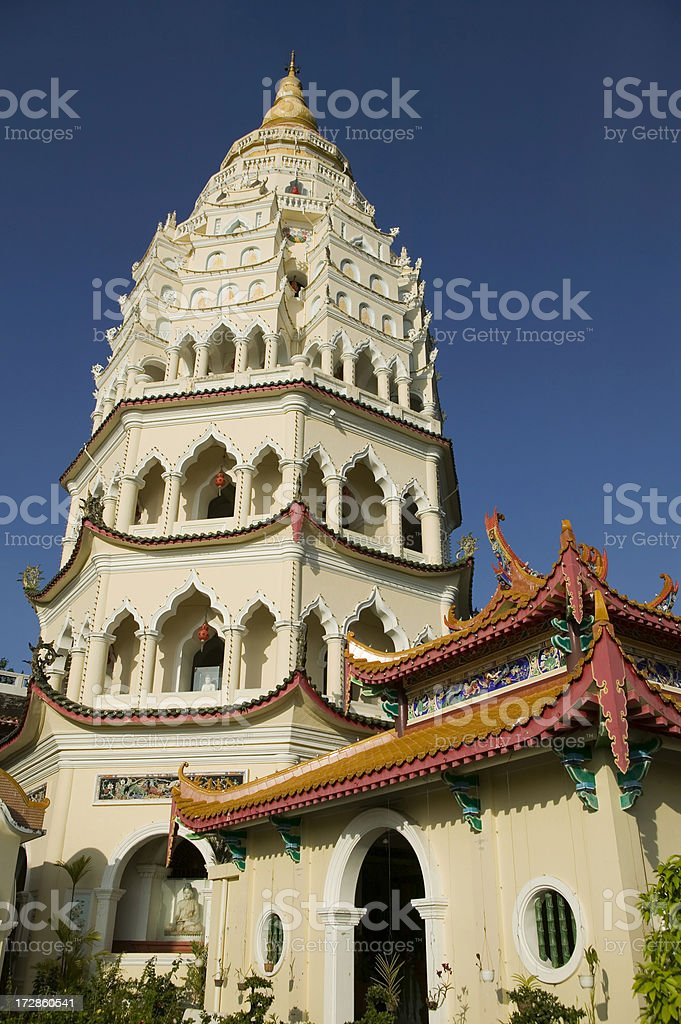kek lok si temple penang island malaysia stock photo