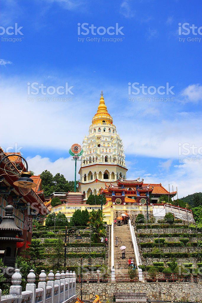 Kek Lok Si Temple, Penang. stock photo